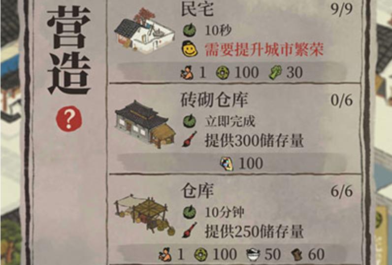 江南百景图仓库需要几个?仓库多少级最好?